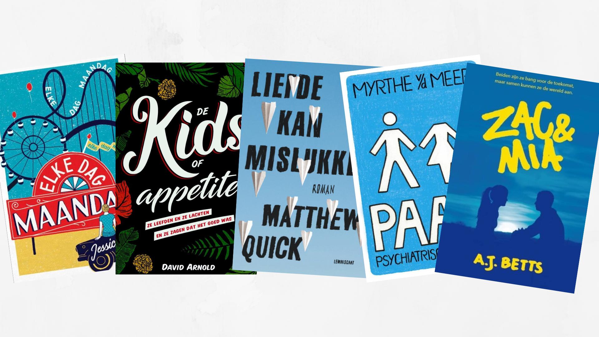Friday Five: Vijf ongelezen boeken in mijn boekenkast