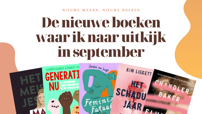 De nieuwe boeken waar ik naar uitkijk in september