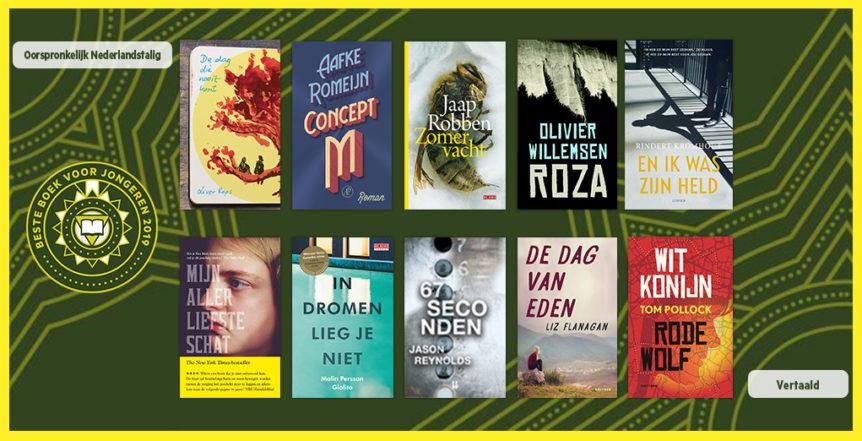 boekenweek voor jongeren 2019 genomineerde boeken
