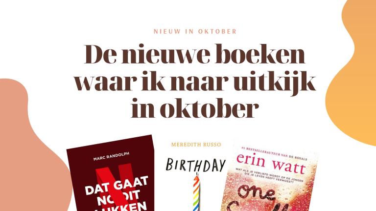 De nieuwe boeken waar ik naar uitkijk in oktober