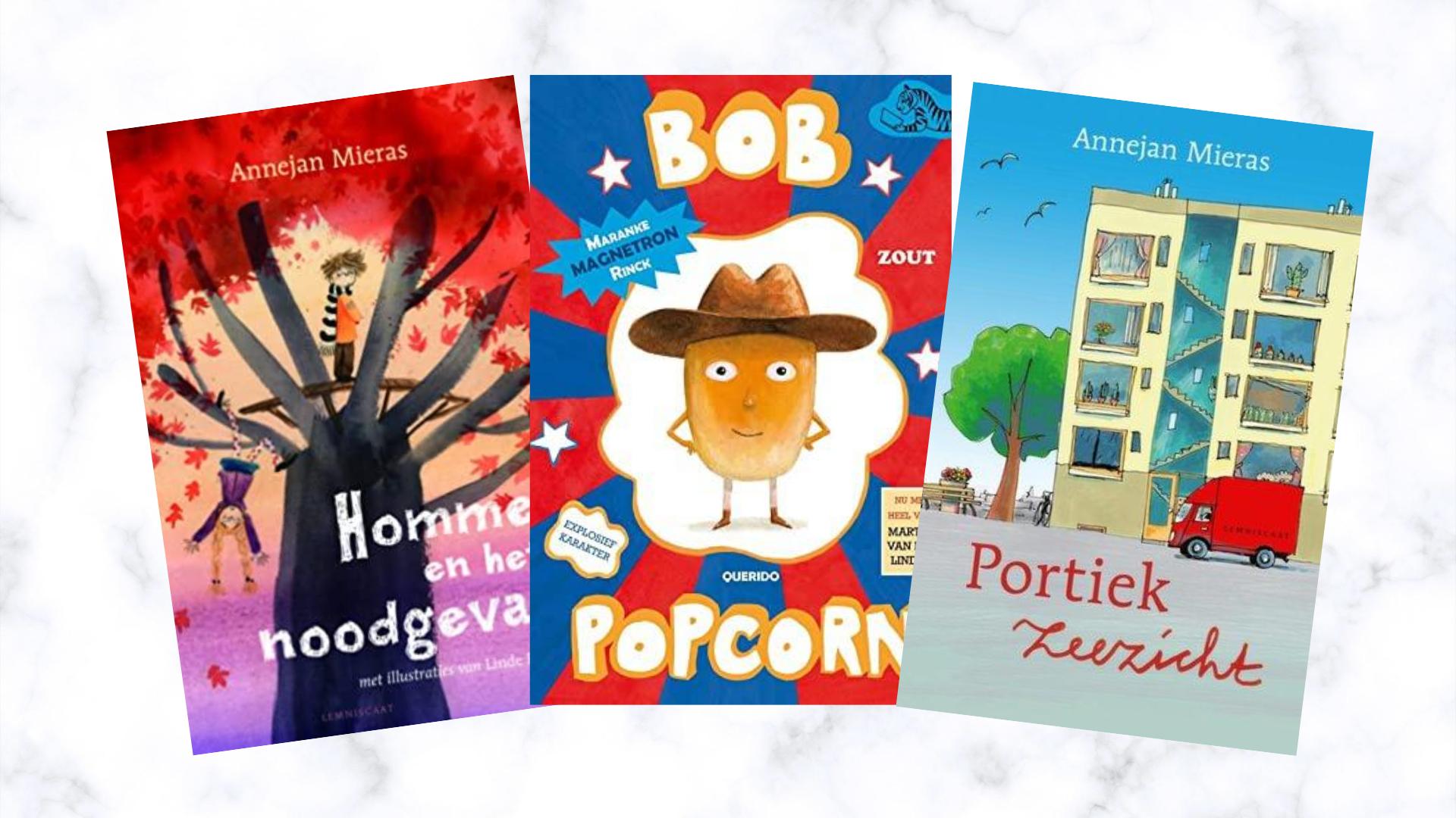 kinderboeken bob popcorn annejan Mieras portiek zeezicht