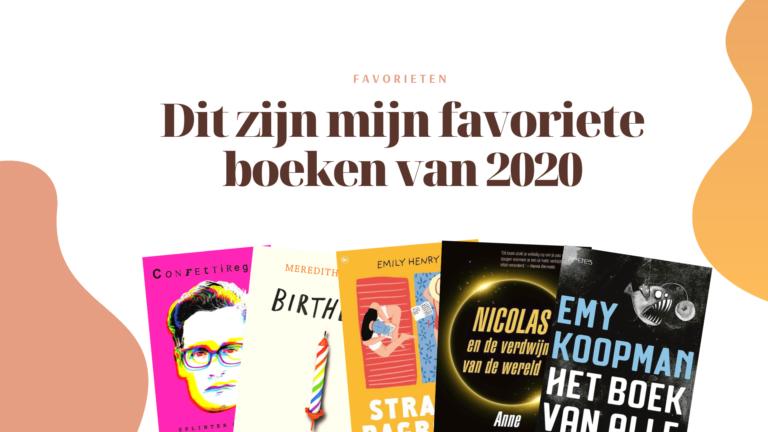 Dit zijn mijn favoriete boeken van 2020